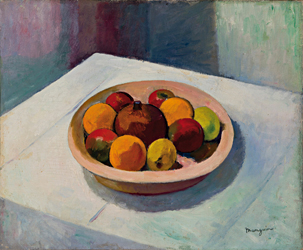 Henri Manguin Fruits dans un plat rond 1909